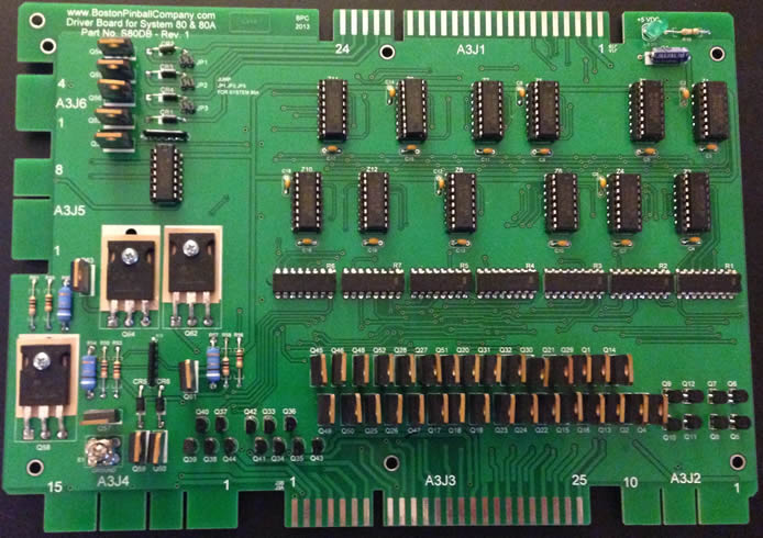 system 80 driver board